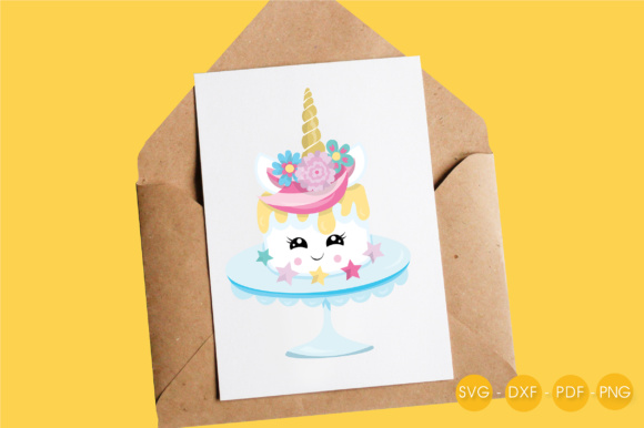 Magical Unicake Graphic Crafts By PrettyCuttables - Image 4