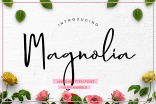 Magnolia Hand Font By luckytype.font