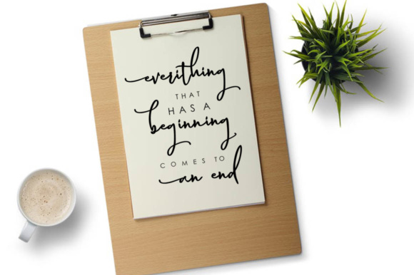 Print on Demand: Magnolia Hand Script & Handwritten Font By luckytype.font - Image 5
