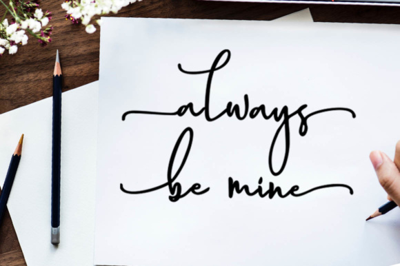 Print on Demand: Magnolia Hand Script & Handwritten Font By luckytype.font - Image 8