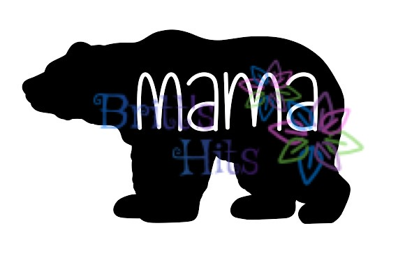 Download Free Mama Bear Graphic By Britt S Hits Creative Fabrica for Cricut Explore, Silhouette and other cutting machines.