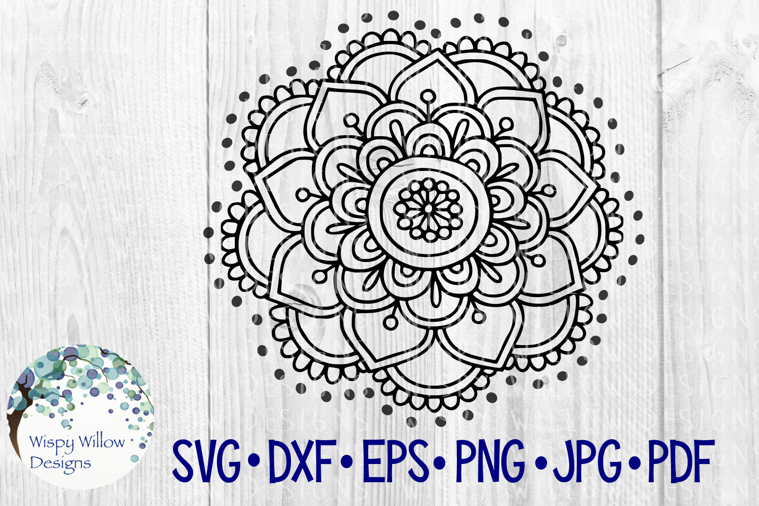 Download Free Mandala Boho Flower Cut File Graphic By Wispywillowdesigns for Cricut Explore, Silhouette and other cutting machines.