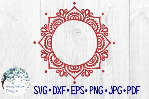 Download Free Mandala Border Monogram Frame Name Cut File Graphic By for Cricut Explore, Silhouette and other cutting machines.