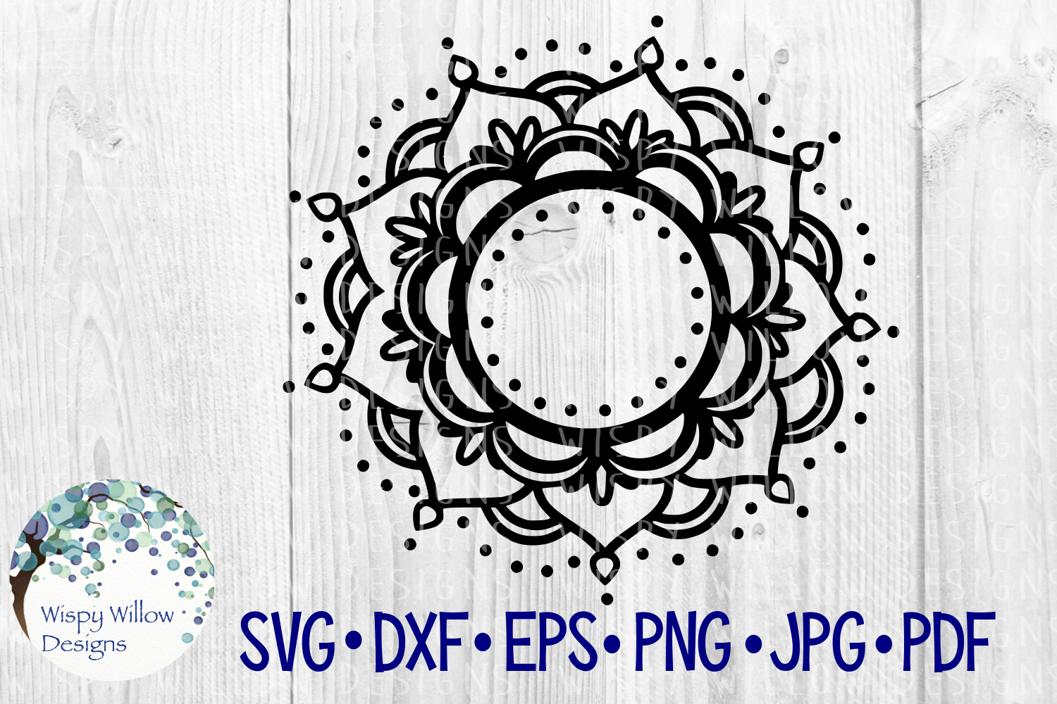 Download Free Mandala Border Name Frame Monogram Circle Cut File Graphic By for Cricut Explore, Silhouette and other cutting machines.