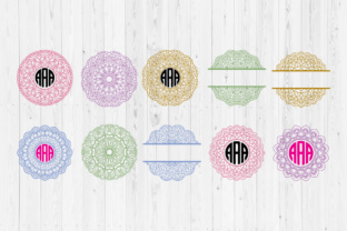 Download Free Mandala Circle Monogram Svg Cut Files Graphic By for Cricut Explore, Silhouette and other cutting machines.