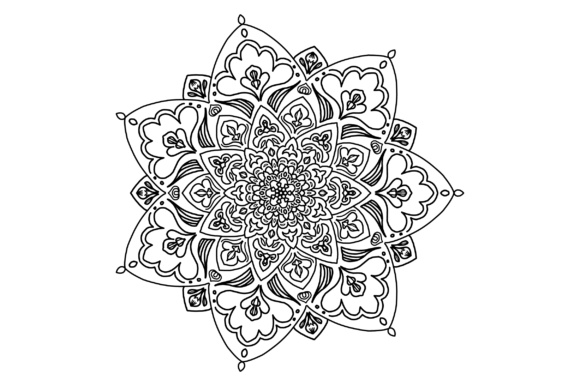 Download Free Mandala Colouring Page 1 Fully Scalable Vector Graphic By Etnik for Cricut Explore, Silhouette and other cutting machines.