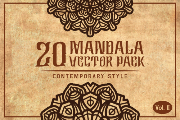 Contemporary Style Mandalas Vol. II Graphic Objects By Arterfak Project