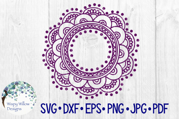 Download Free Mandala Name Border Monogram Frame Cut File Graphic By Wispywillowdesigns Creative Fabrica for Cricut Explore, Silhouette and other cutting machines.