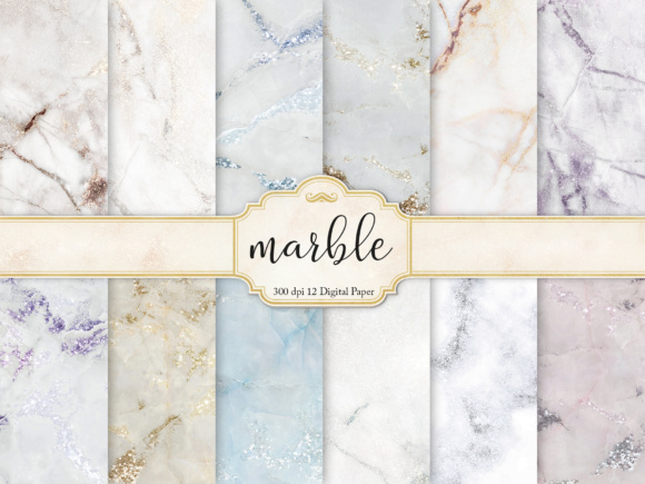 Marble Digital Paper Graphic By artisssticcc