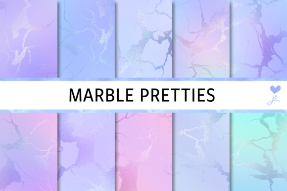 Print on Demand: Marble Pretties Graphic Textures By JulieCampbellDesigns - Image 1