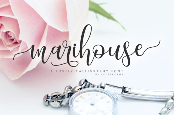 Print on Demand: Marihouse Script Script & Handwritten Font By Lettersams
