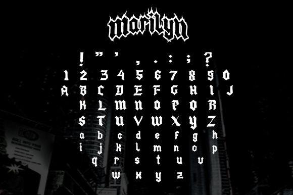 Print on Demand: Marilyn Blackletter Font By brnk1314 - Image 2