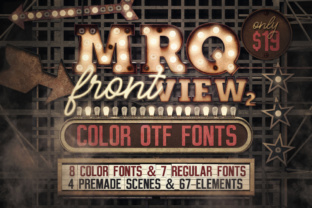 Print on Demand: Marquee Front View - Color Fonts Graphic Scene Generators By tvartworks