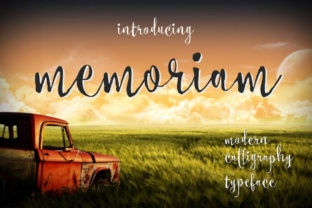 Memoriam Font By screen letter