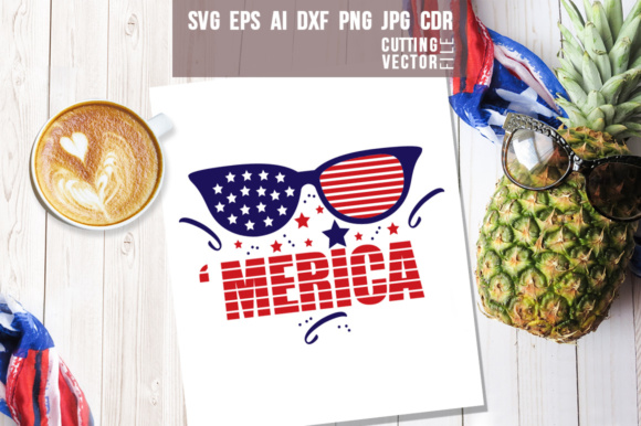 'Merica 4th of July Design Graphic Crafts By danieladoychinovashop