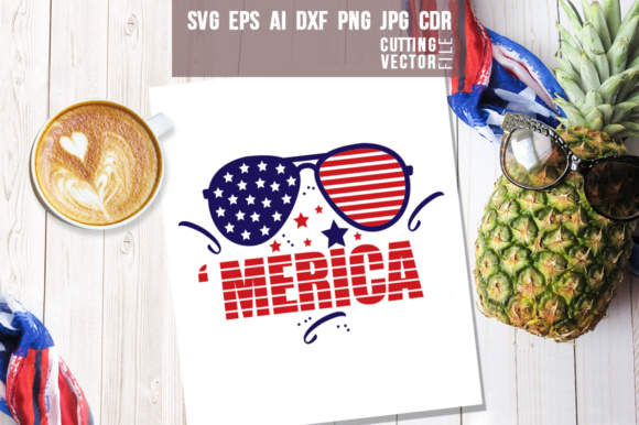 'Merica 4th of July Graphic Crafts By danieladoychinovashop
