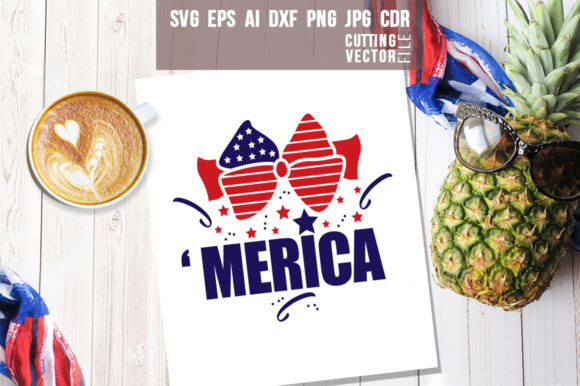 'Merica Design 4th of July Graphic Crafts By danieladoychinovashop