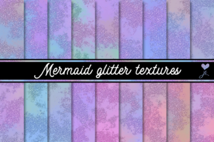 Mermaid Glitter Textures Graphic By JulieCampbellDesigns