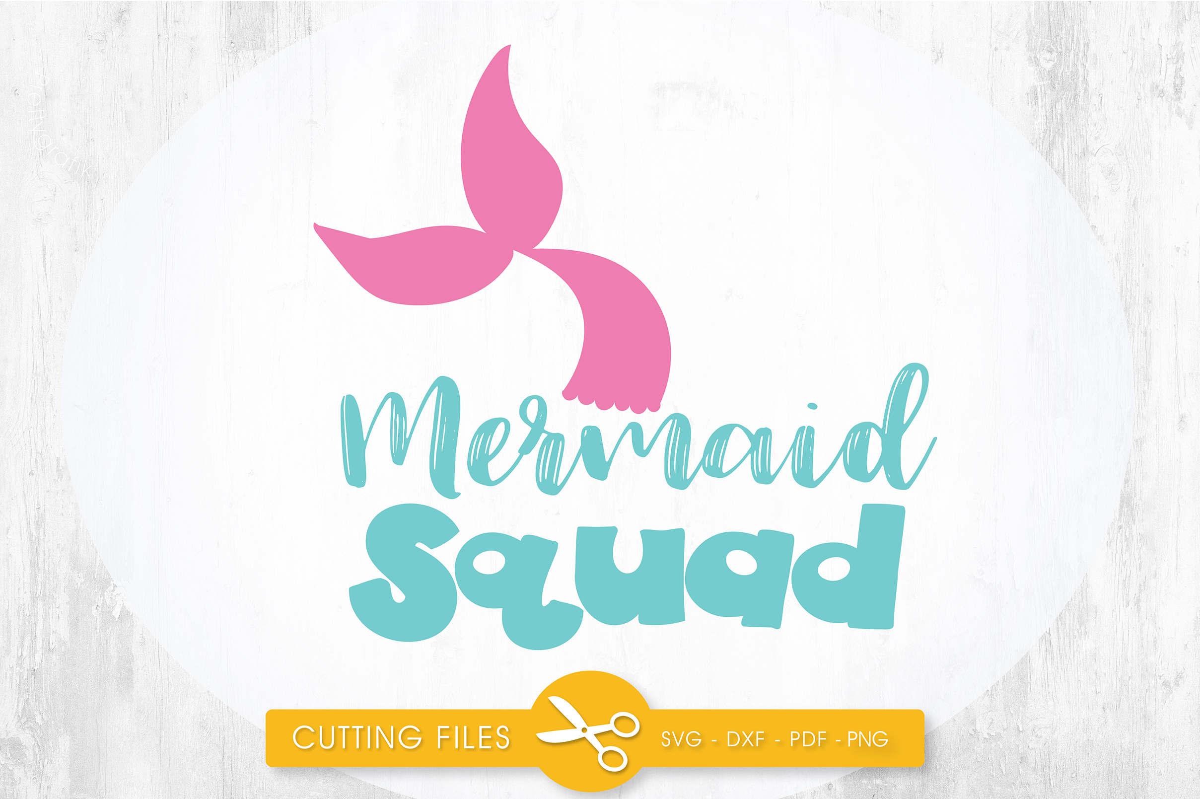 Download Free Mermaid Squad Graphic By Prettycuttables Creative Fabrica for Cricut Explore, Silhouette and other cutting machines.