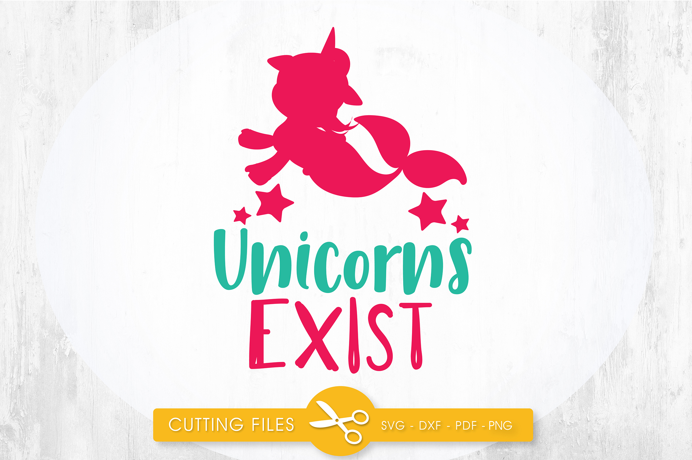 Download Free Mermaid Unicorns Exist Graphic By Prettycuttables Creative Fabrica for Cricut Explore, Silhouette and other cutting machines.