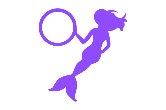 Download Free Mermaid Holding Circle Monogram Frame Svg Cut File By Creative for Cricut Explore, Silhouette and other cutting machines.