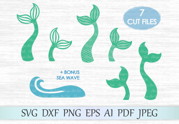 Mermaid Tail Graphic Crafts By MagicArtLab
