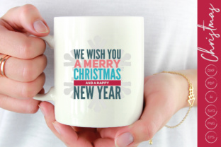 Download Free Merry Christmas And A Happy New Year Svg Graphic By Illuztrate for Cricut Explore, Silhouette and other cutting machines.