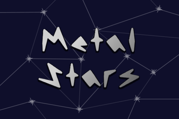 Print on Demand: Metal Stars Display Font By Marlee Pagels