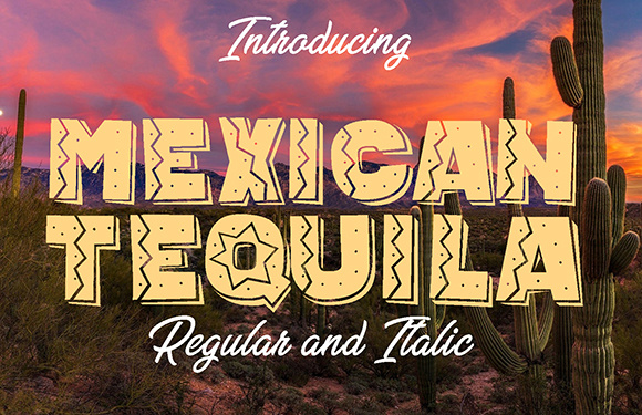 Print on Demand: Mexican Tequila Display Font By vladimirnikolic