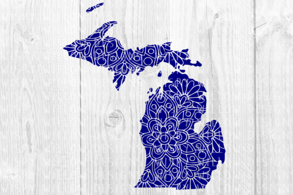 Download Free Michigan Mi Floral Mandala State Cut File Graphic By for Cricut Explore, Silhouette and other cutting machines.