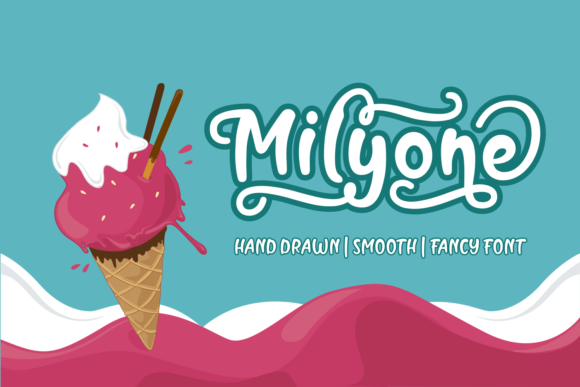 Download Free Milyone Font By Rifki 7ntypes Creative Fabrica for Cricut Explore, Silhouette and other cutting machines.