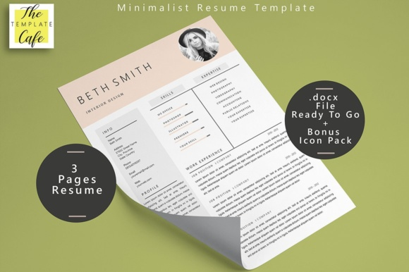 Minimalist Resume Template Graphic By Rustype