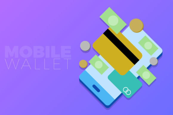 Mobile Wallet Graphic By KitCreativeStudio