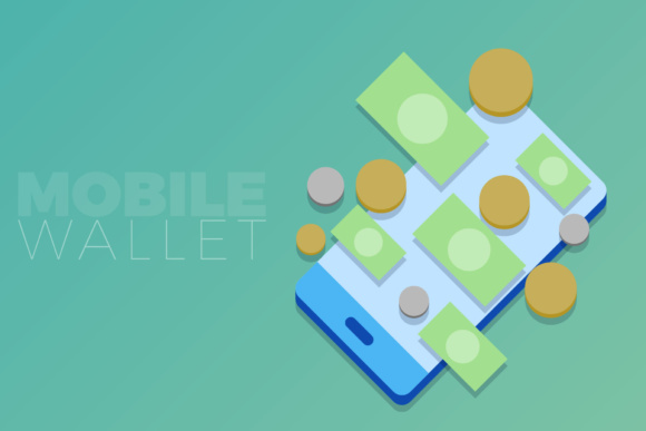Mobile Wallet Graphic Illustrations By KitCreativeStudio