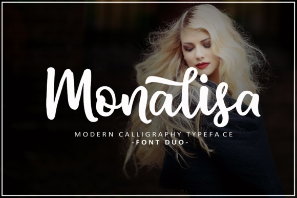 Print on Demand: Monalisa Script Script & Handwritten Font By fargunstudio