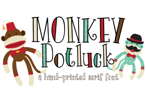 Print on Demand: Monkey Potluck Script & Handwritten Font By Illustration Ink