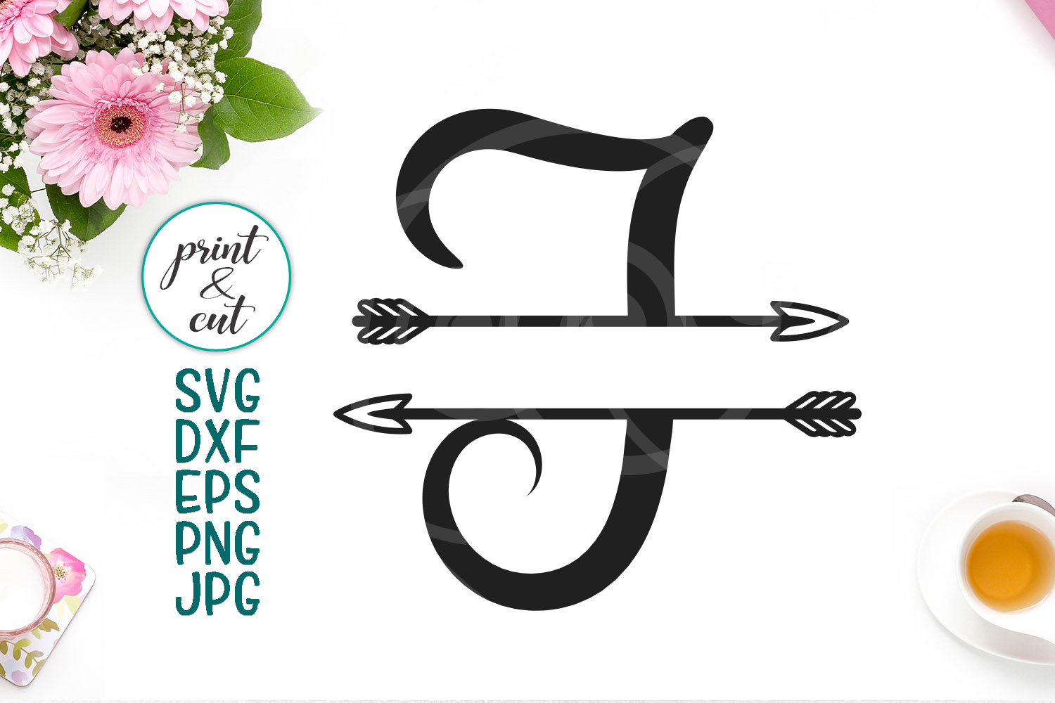 Download Free Monogram Letter I Creative Fabrica for Cricut Explore, Silhouette and other cutting machines.