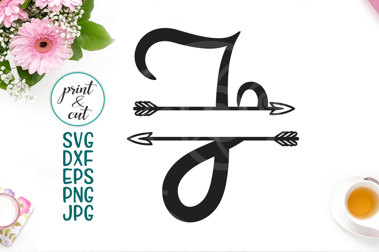 Download Free Monogram Letter J Graphic By Cornelia Creative Fabrica for Cricut Explore, Silhouette and other cutting machines.