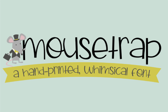 Print on Demand: Mousetrap Script & Handwritten Font By Illustration Ink