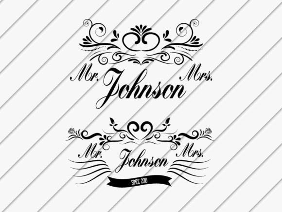 Download Free Mr Mrs Cut Files Graphic By Goran Stojanovic Creative Fabrica SVG Cut Files