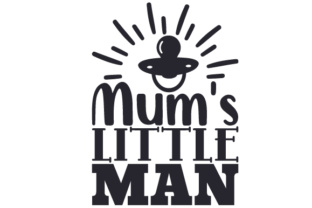 Mum's Little Man Craft Design By Creative Fabrica Crafts