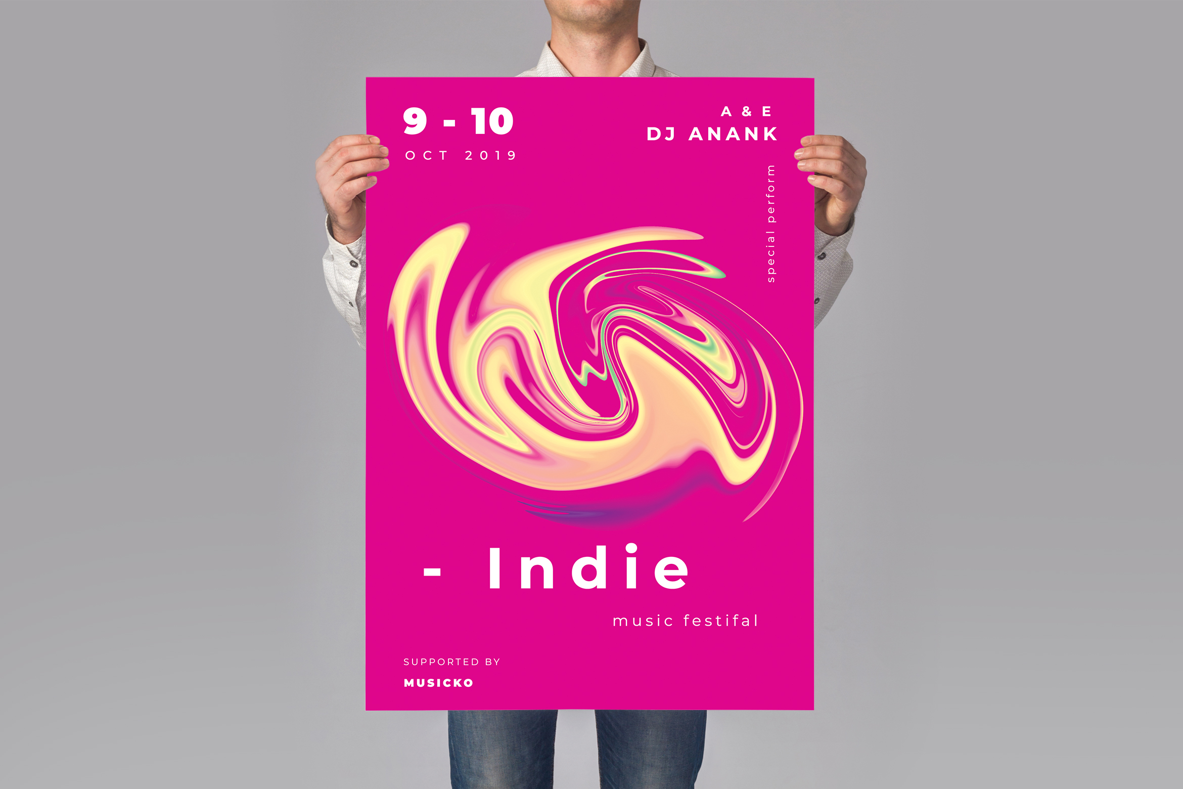 Download Free Music Poster Flyer Graphic By Tmint Creative Fabrica for Cricut Explore, Silhouette and other cutting machines.