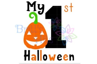 Download Free My First Halloween Svg Graphic By Britt S Hits Creative Fabrica for Cricut Explore, Silhouette and other cutting machines.
