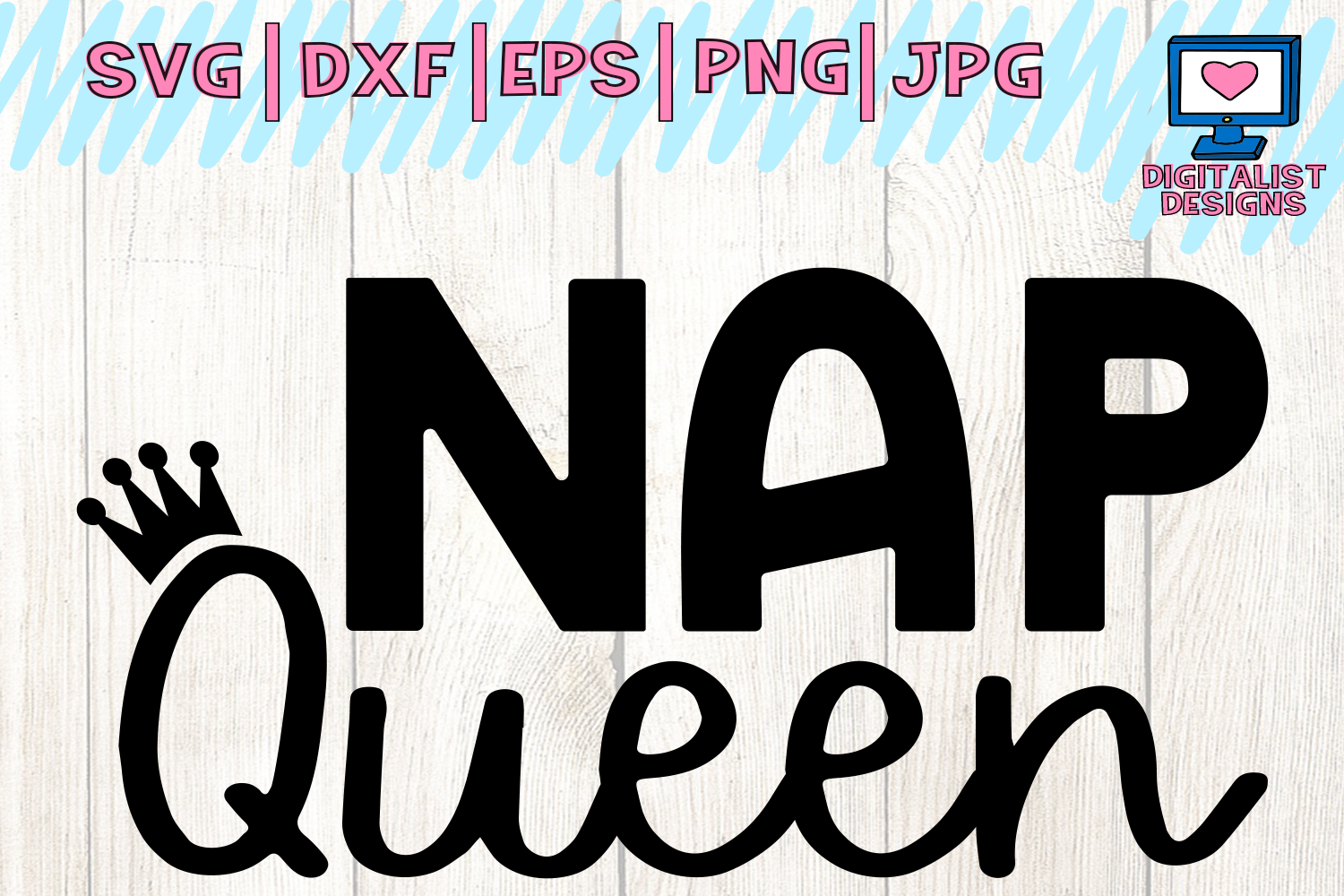 Download Free Nap Queen Sleep Funny Iron On Graphic By Digitalistdesigns for Cricut Explore, Silhouette and other cutting machines.