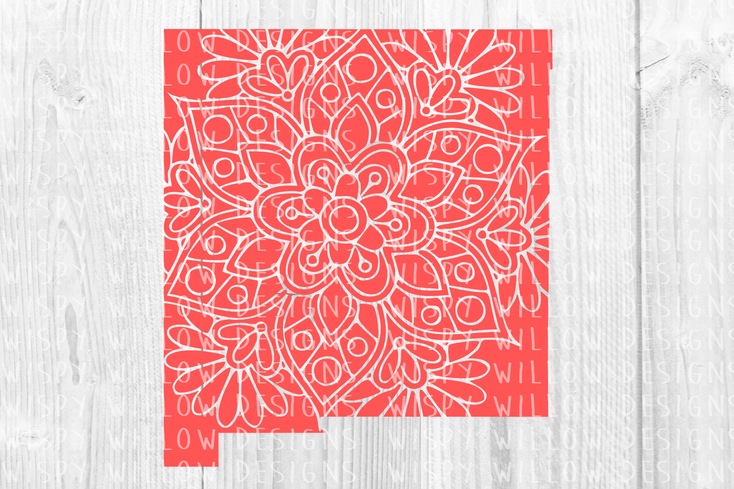 Download Free New Mexico Nm Floral Mandala State Cut File Graphic By for Cricut Explore, Silhouette and other cutting machines.