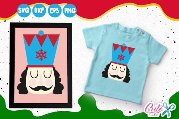 Nutcracker Face, Snowflake Svg, Mostache, Merry Christmas Graphic Illustrations By Cute files