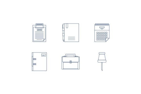 Office Icons and Tools Graphic Icons By KitCreativeStudio