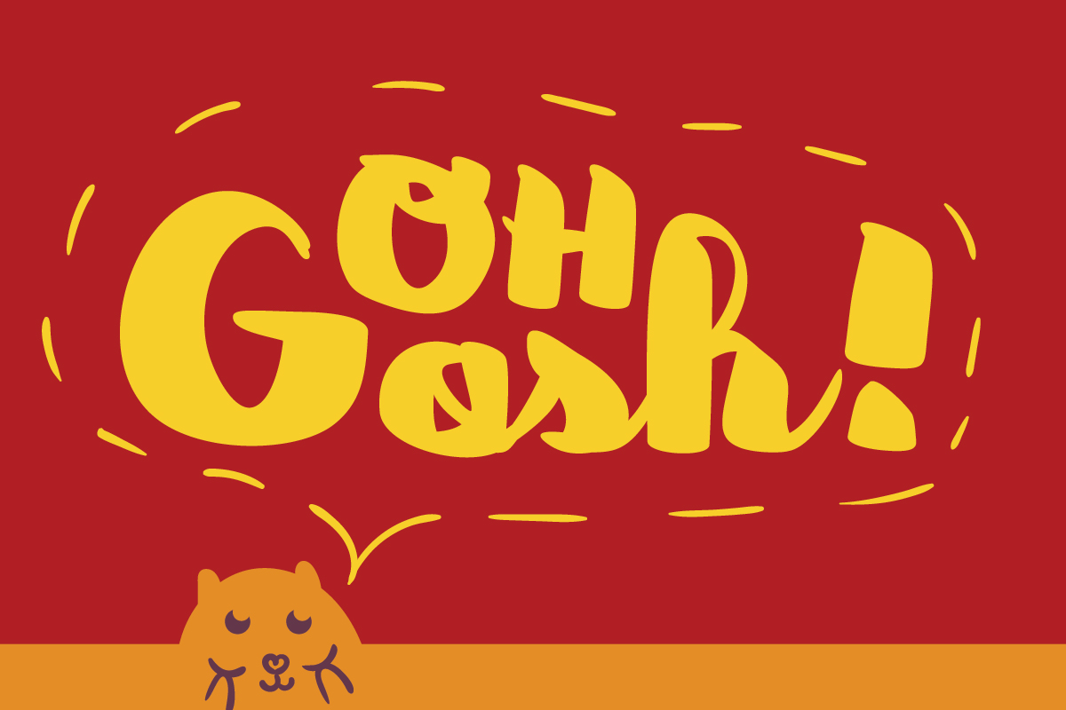 Download Free Oh Gosh Font By Lickable Pixels Creative Fabrica for Cricut Explore, Silhouette and other cutting machines.