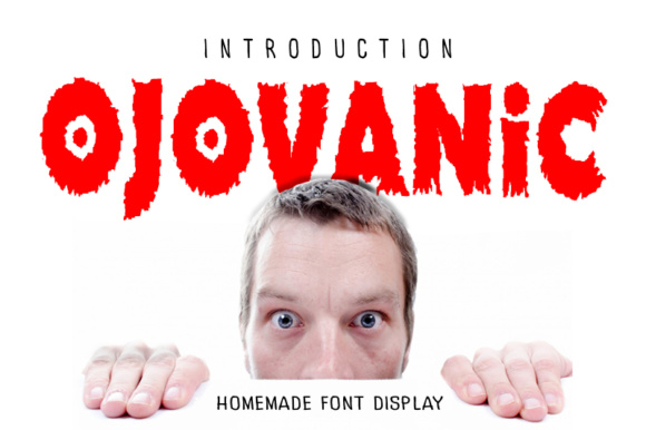 Print on Demand: Ojovanic Display Font By linafisstudio