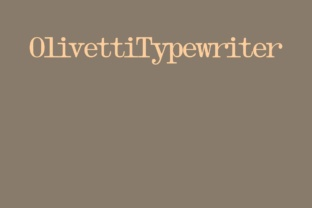 Olivetti Typewriter Family Serif Font By Intellecta Design